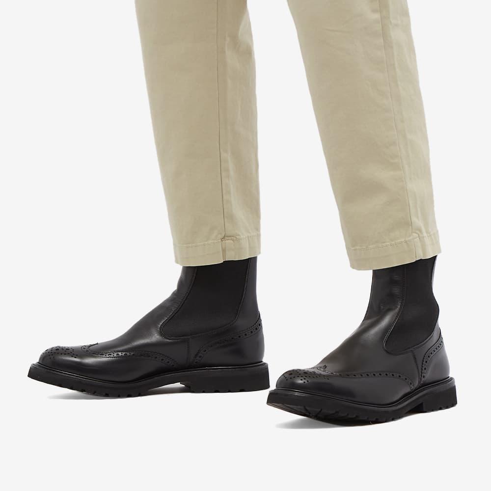 Tricker's Henry Brogue Chelsea Boot - Black Olivia Classic
