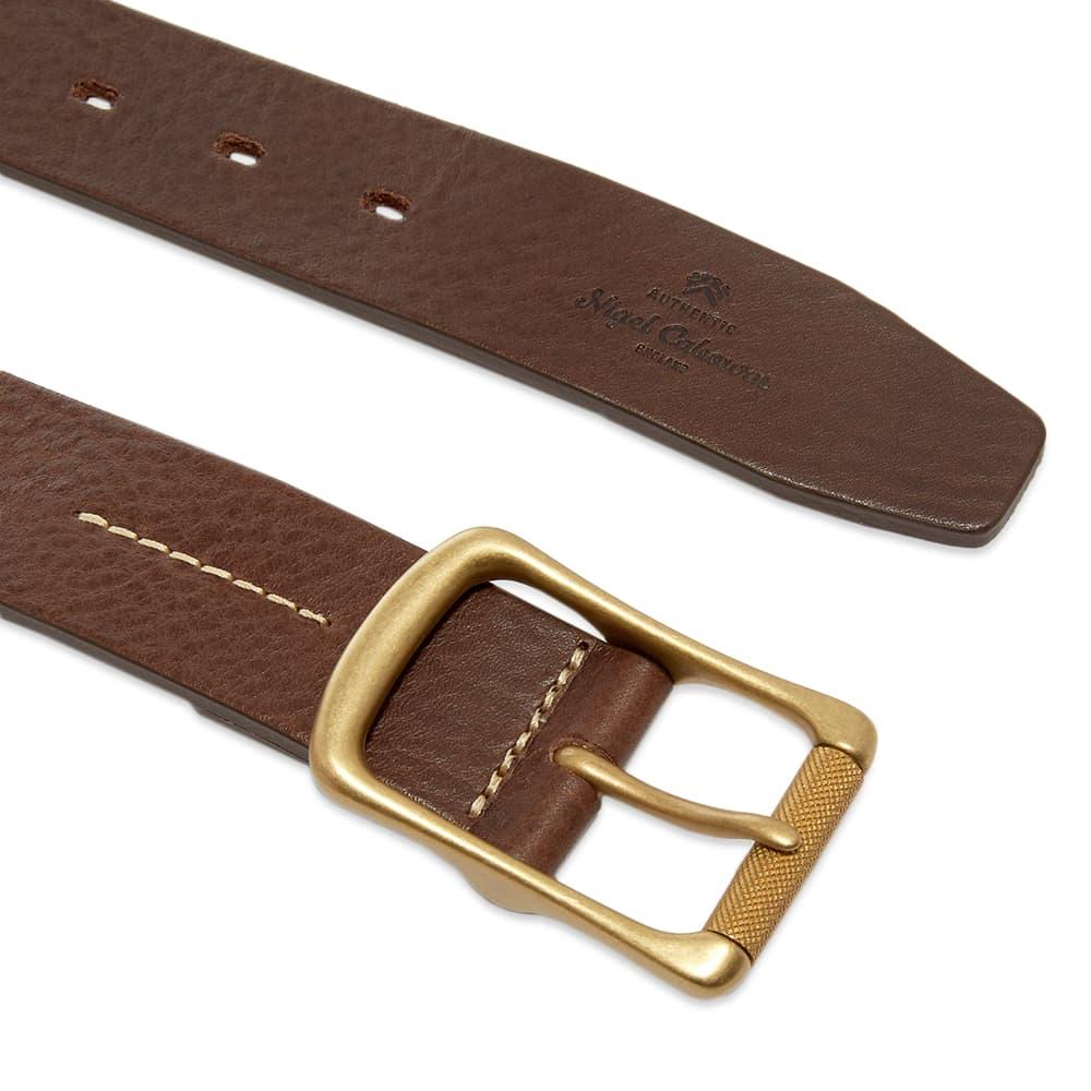 Nigel Cabourn 35MM Military Roller Buckle Belt - Brown