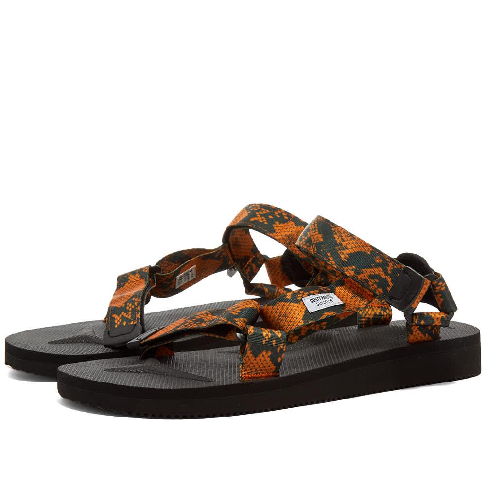 Wacko Maria x Suicoke DEPA Sandal - Orange Snake