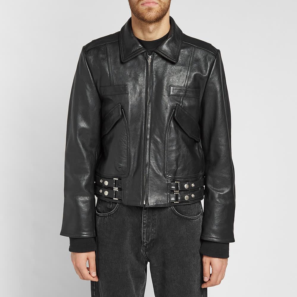 Ambush Leather Biker Jacket - Black