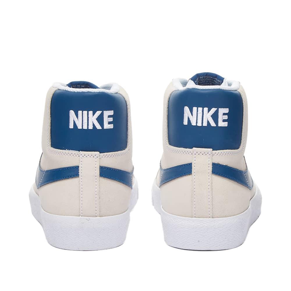 Nike SB Zoom Blazer Mid - White & Court Blue