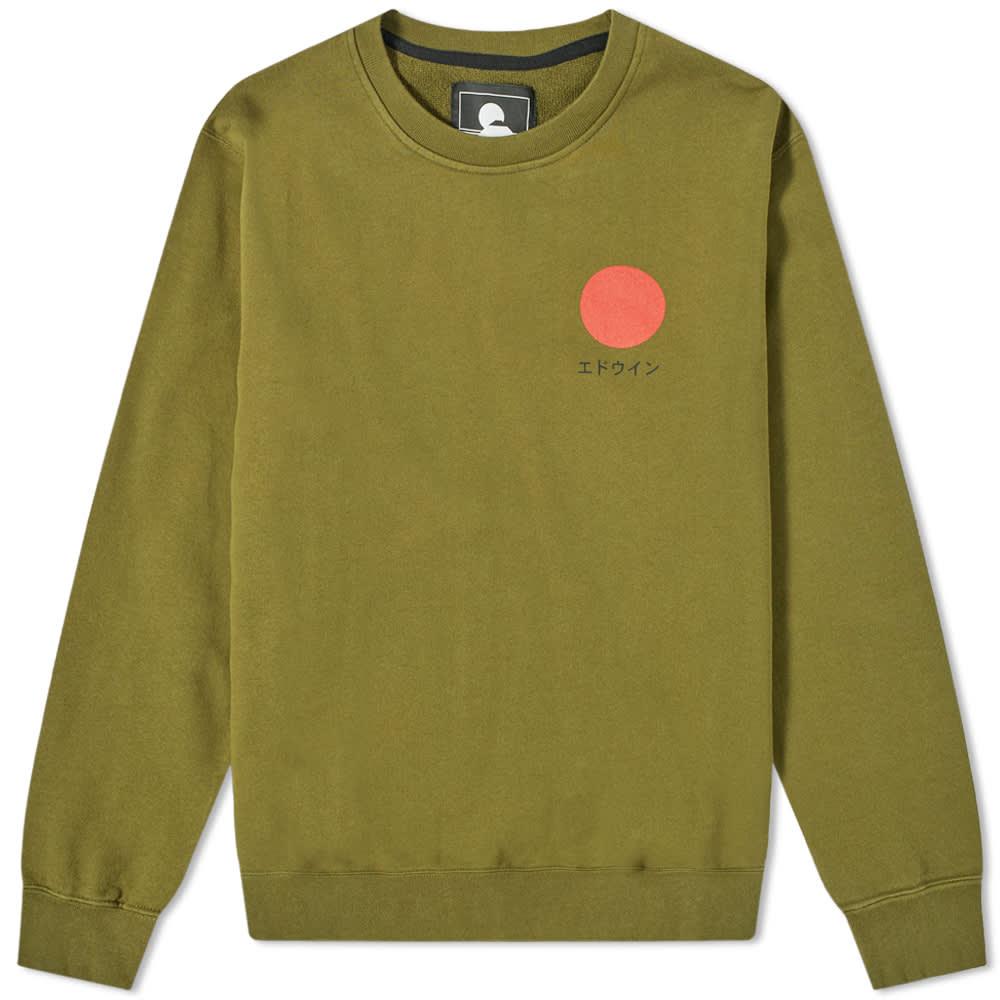 Edwin Japanese Sun Crew Sweat - Uniform Green