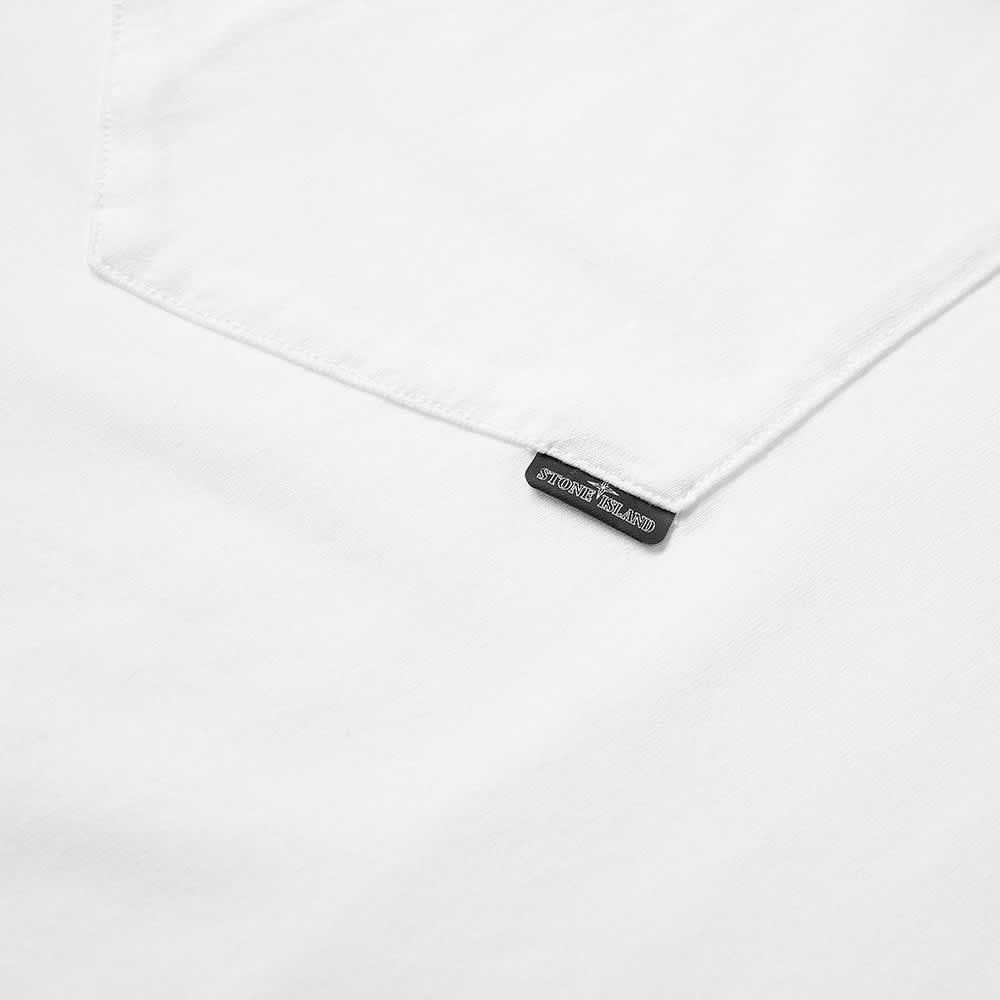 Stone Island Shadow Project Long Sleeve Logo Print Tee - White