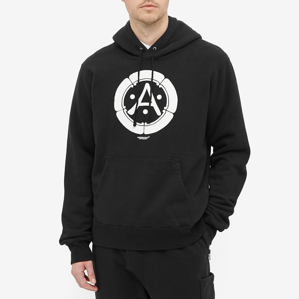 Undercover 'A' Print Popover Hoody - Black