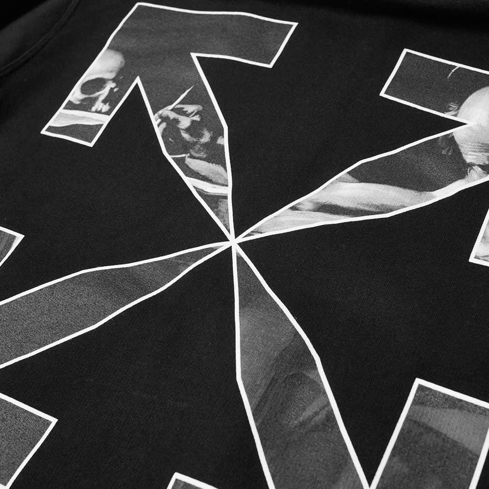 Off-White Caravaggio Arrow Slim Zip Hoody - Black