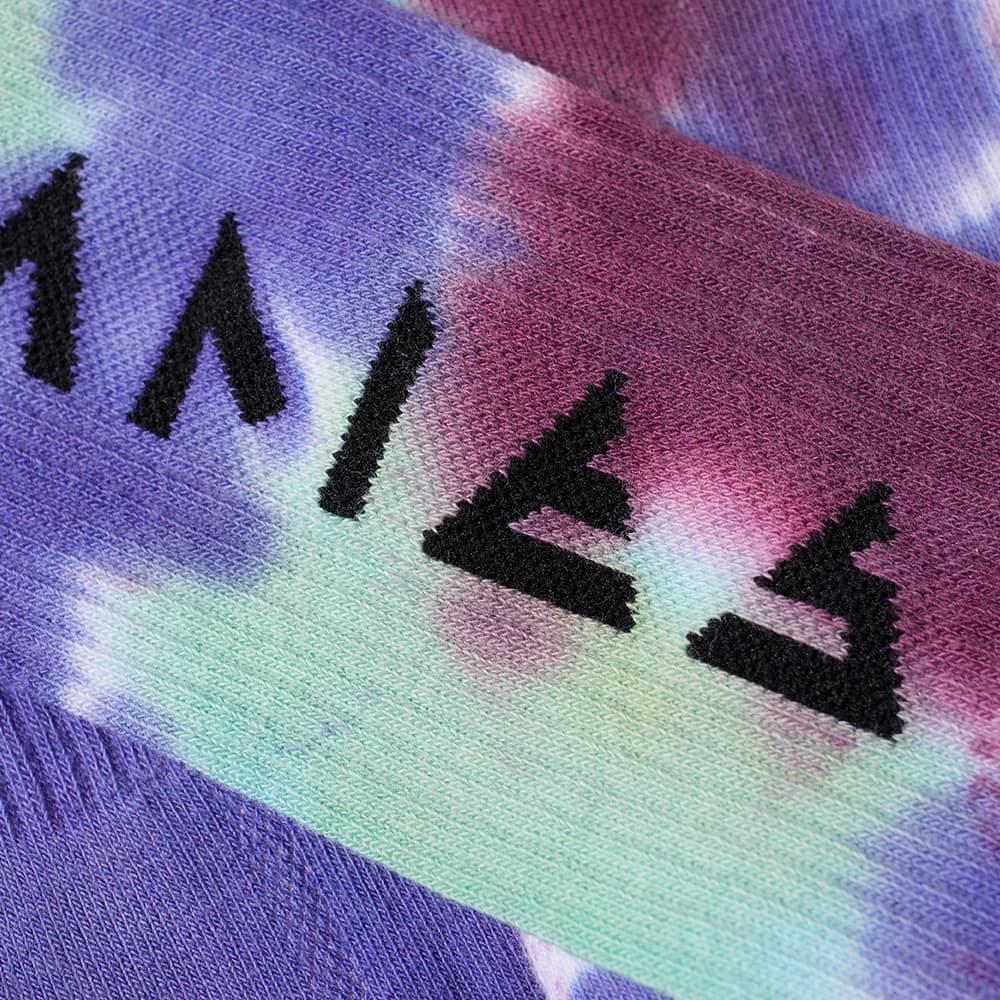 Aries Tie Dye Rune Socks - Black & Multi