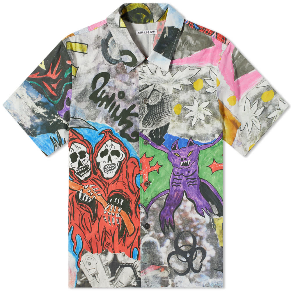 Our Legacy Short Sleeve Skeleton Print Shirt - Skeletorn Print