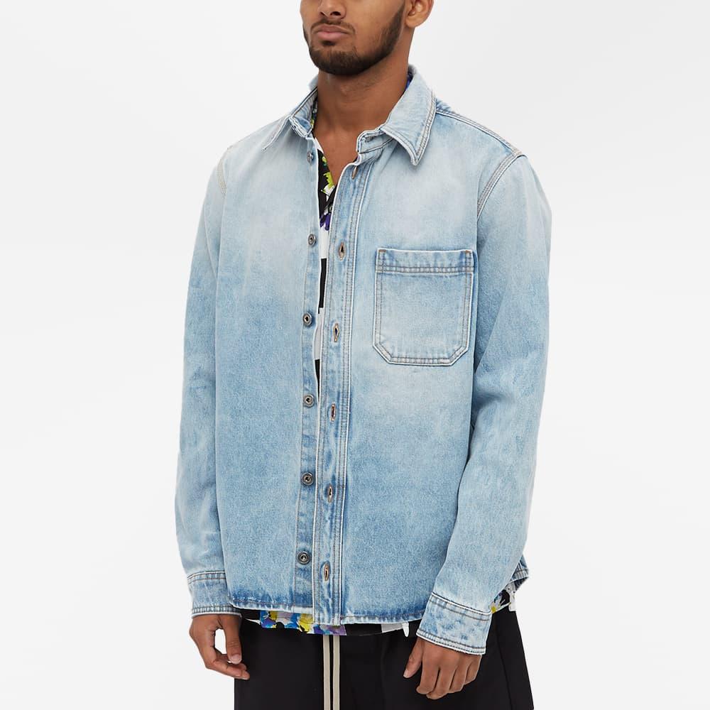 Off-White Negative Mark Denim Shirt - Blue
