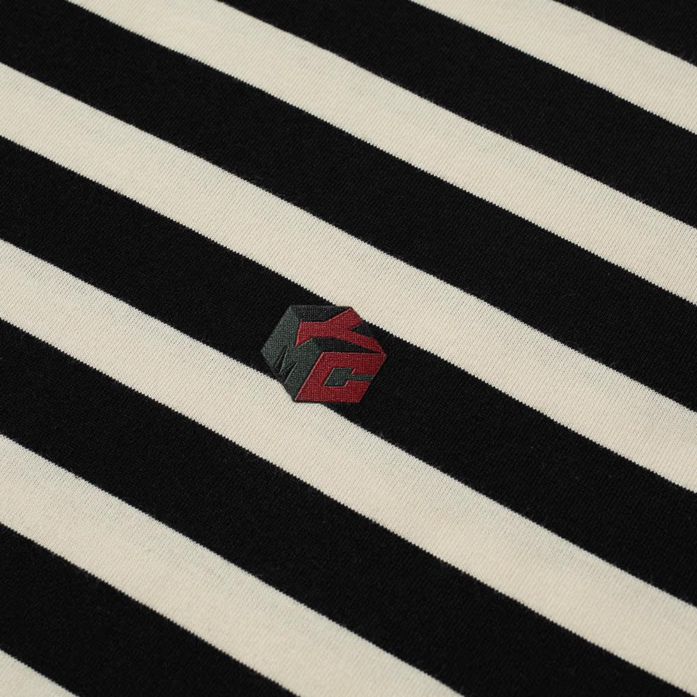 YMC Wild Ones Stripe Tee - Black & Ecru