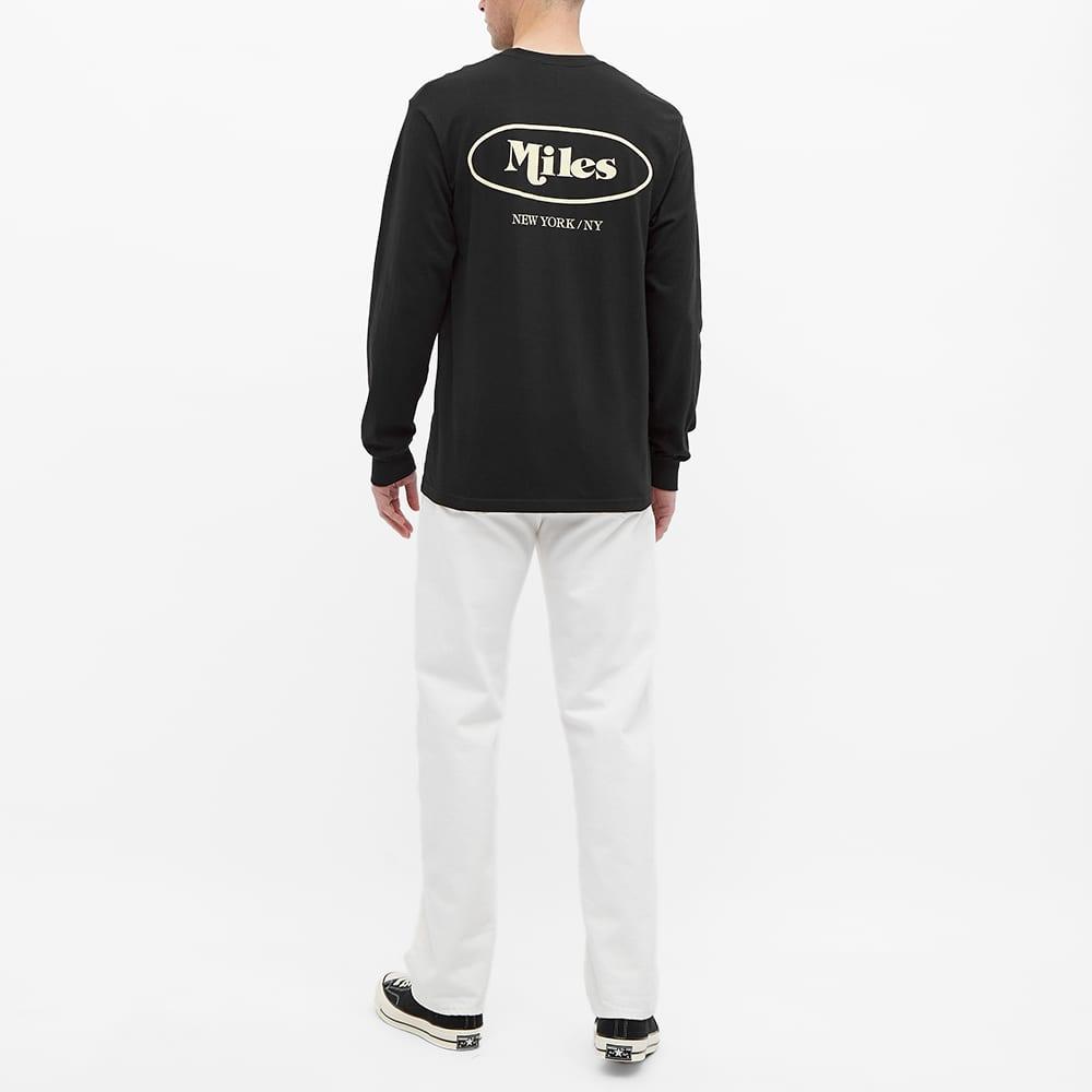 Miles Long Sleeve Classic Logo Tee - Black