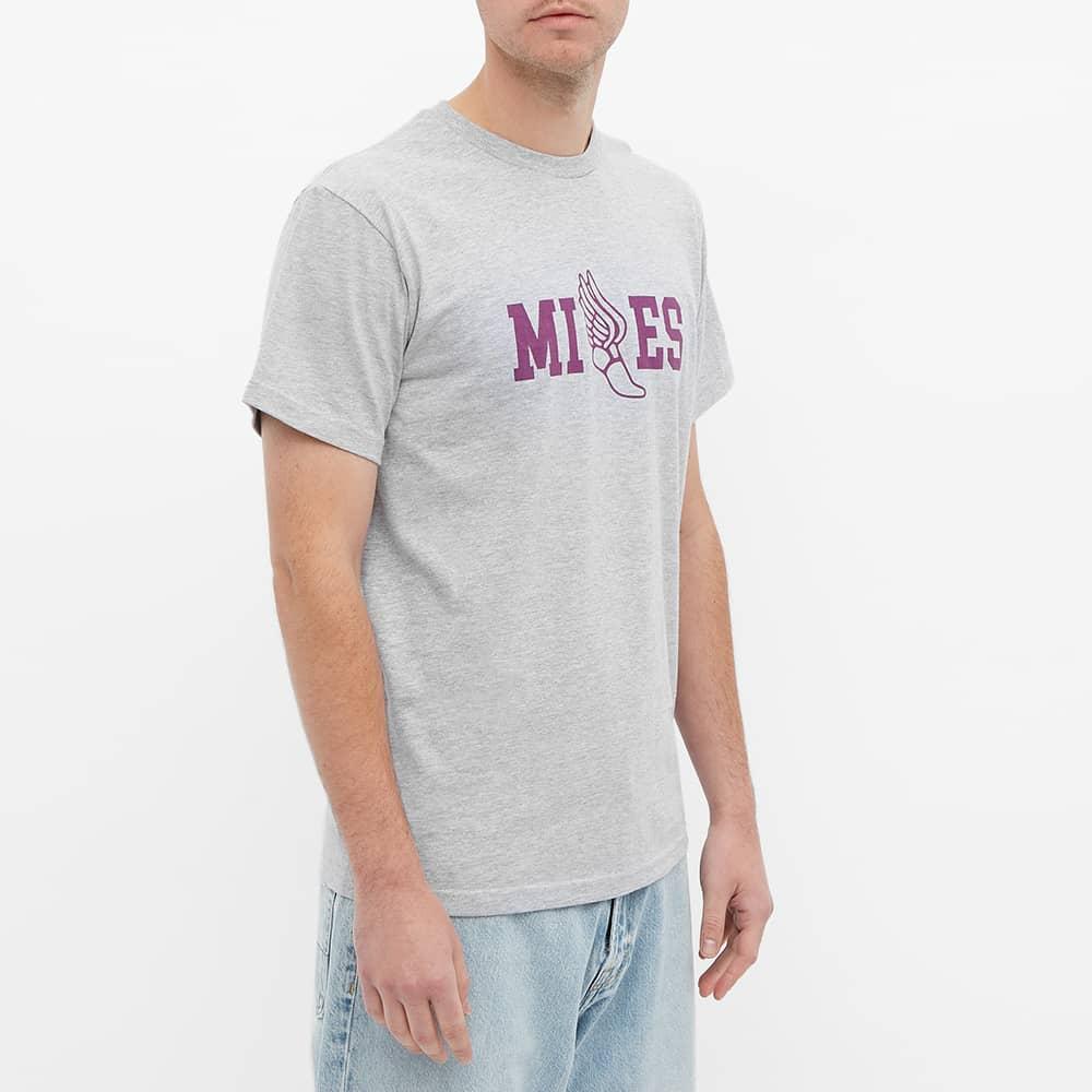 Miles Track Tee - Heather Grey