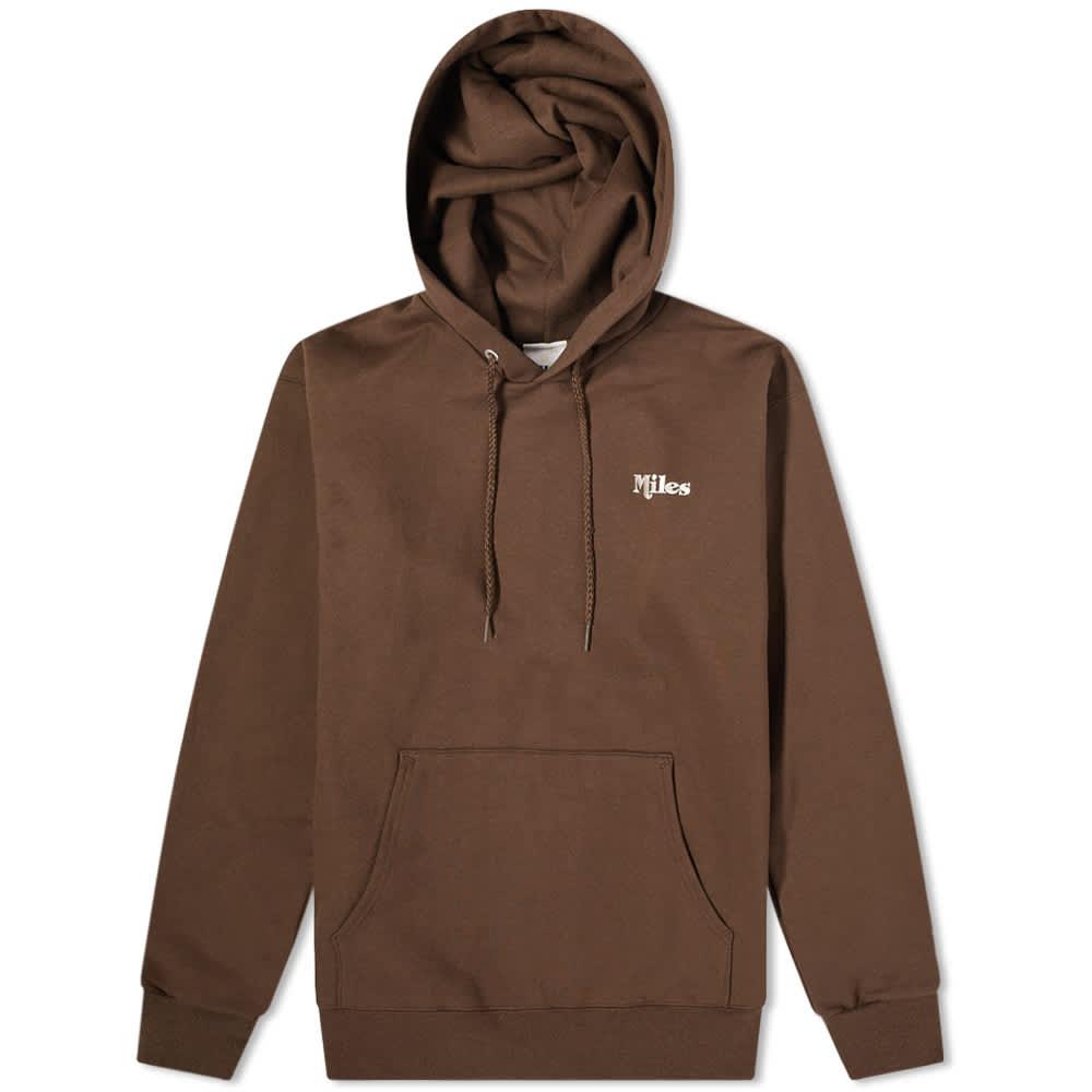 Miles Classic Logo Hoody - Chocolate