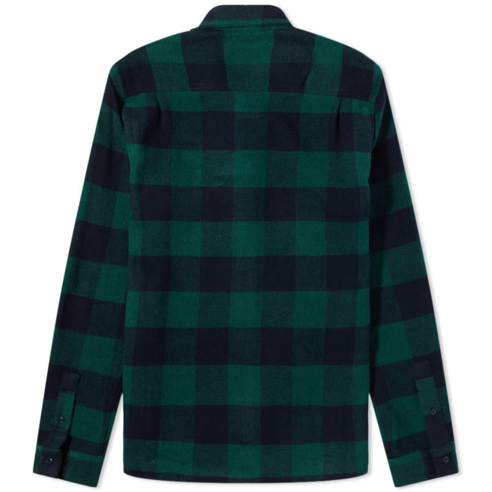 YMC Curtis Shirt - Blue & Green