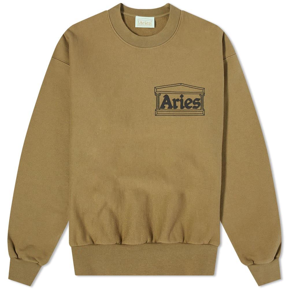 Aries Premium Temple Crew Sweat - Olive