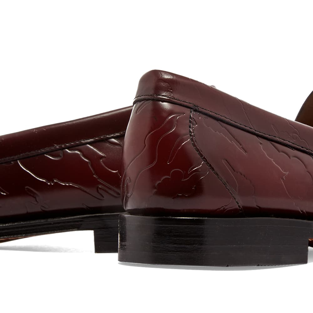 Maharishi x G.H.Bass & Co Weejuns Embossed Larson Loafer - Wine