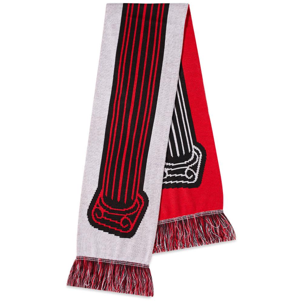 Aries Column Scarf - Black, Red & White
