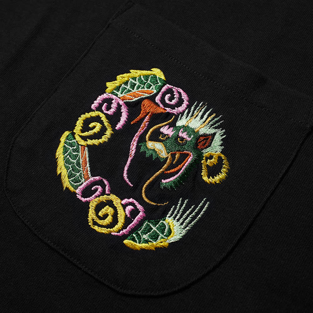 YMC Dragon Embroidered Tee - Black