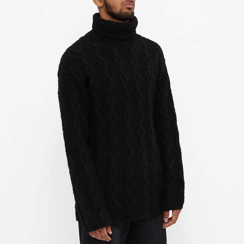 Our Legacy Cable Knit Turtleneck - Soot Black