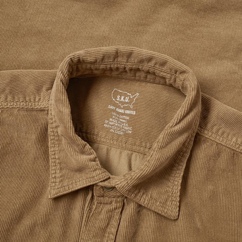Save Khaki Corduroy Overshirt - Tobacco