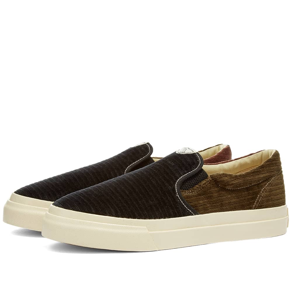 Stepney Workers Club Lister Trophy Grand Cord Slip On - Black Mix