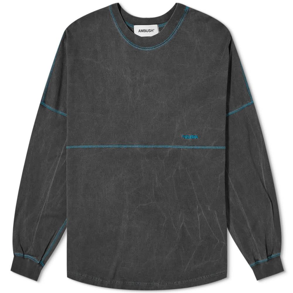 Ambush Long Sleeve Pigment Dyed Tee - Black