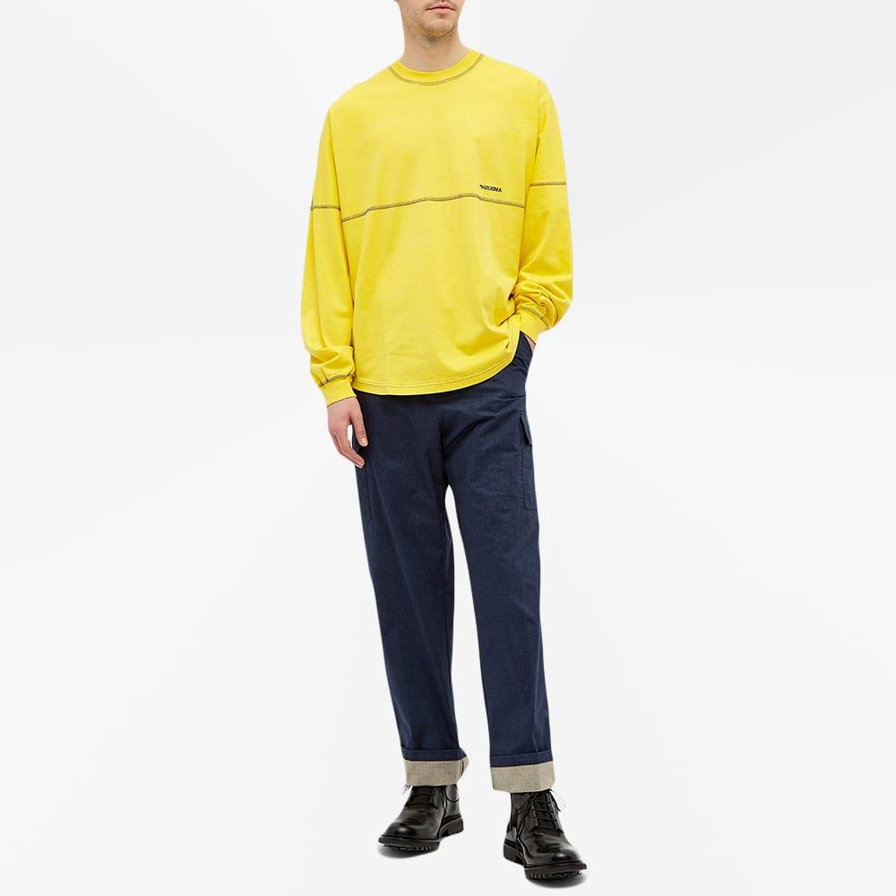 Ambush Long Sleeve Pigment Dyed Tee - Yellow