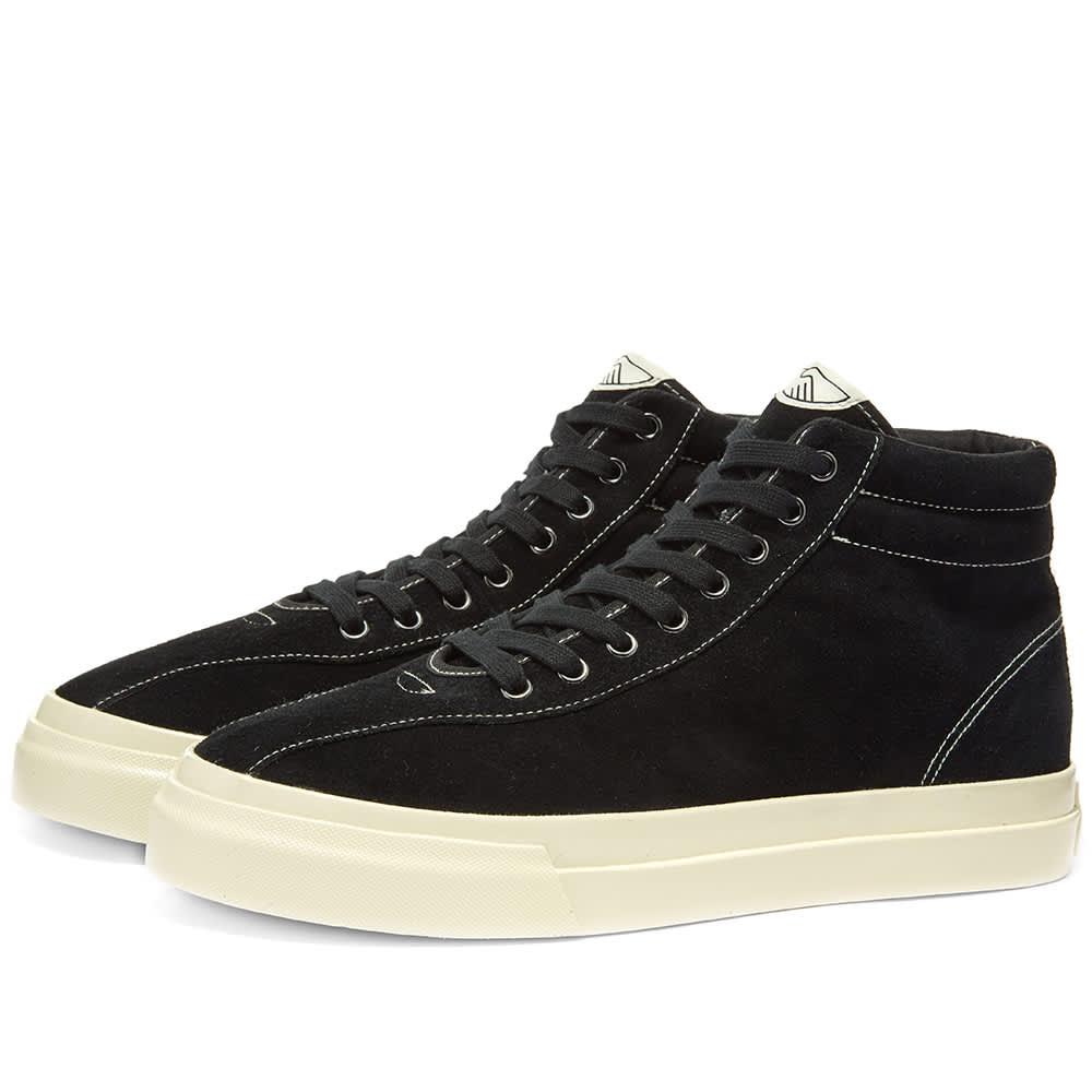 Stepney Workers Club Varden Suede High Sneaker - Black