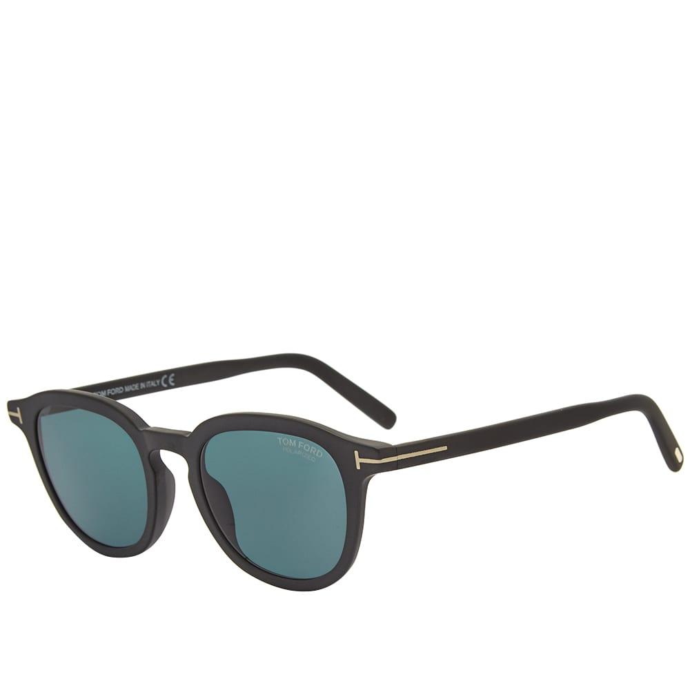 Tom Ford FT0816 Pax Sunglasses - Matte Black & Blue