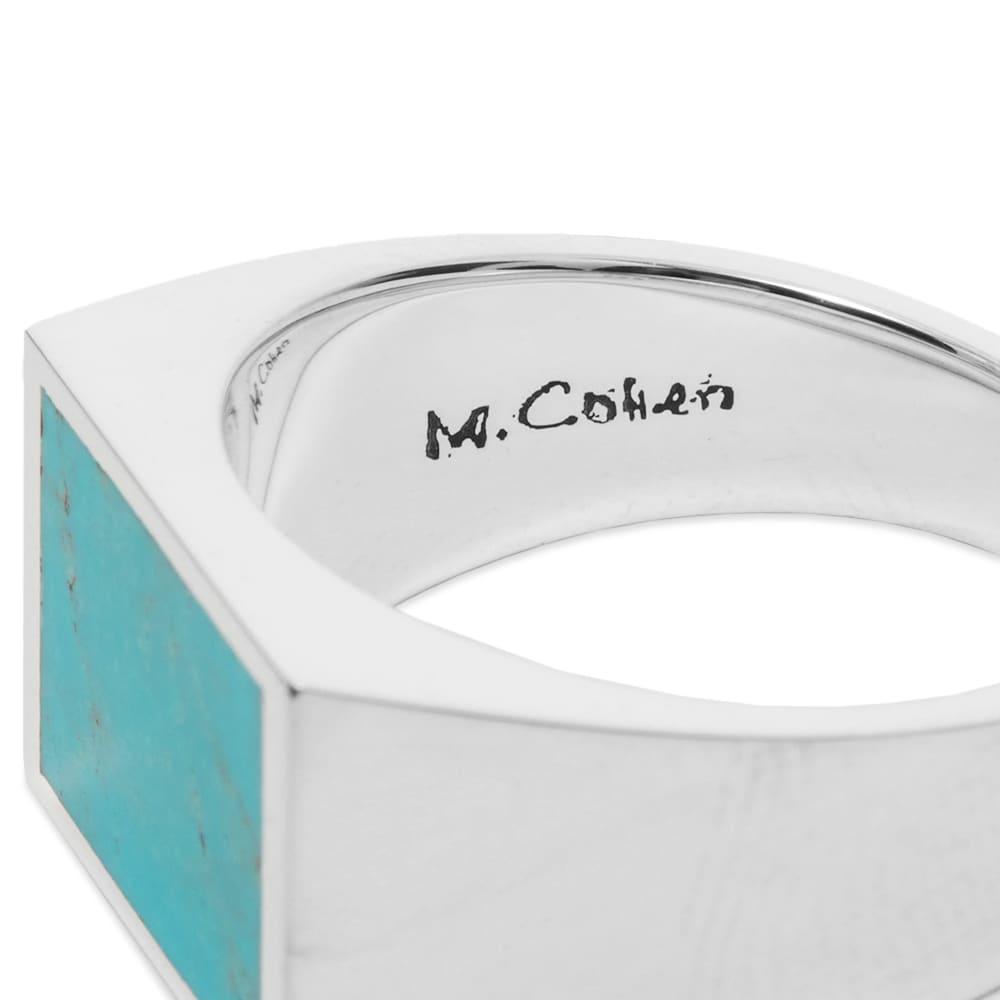 M. Cohen Glib Ring - Silver & Torquoise