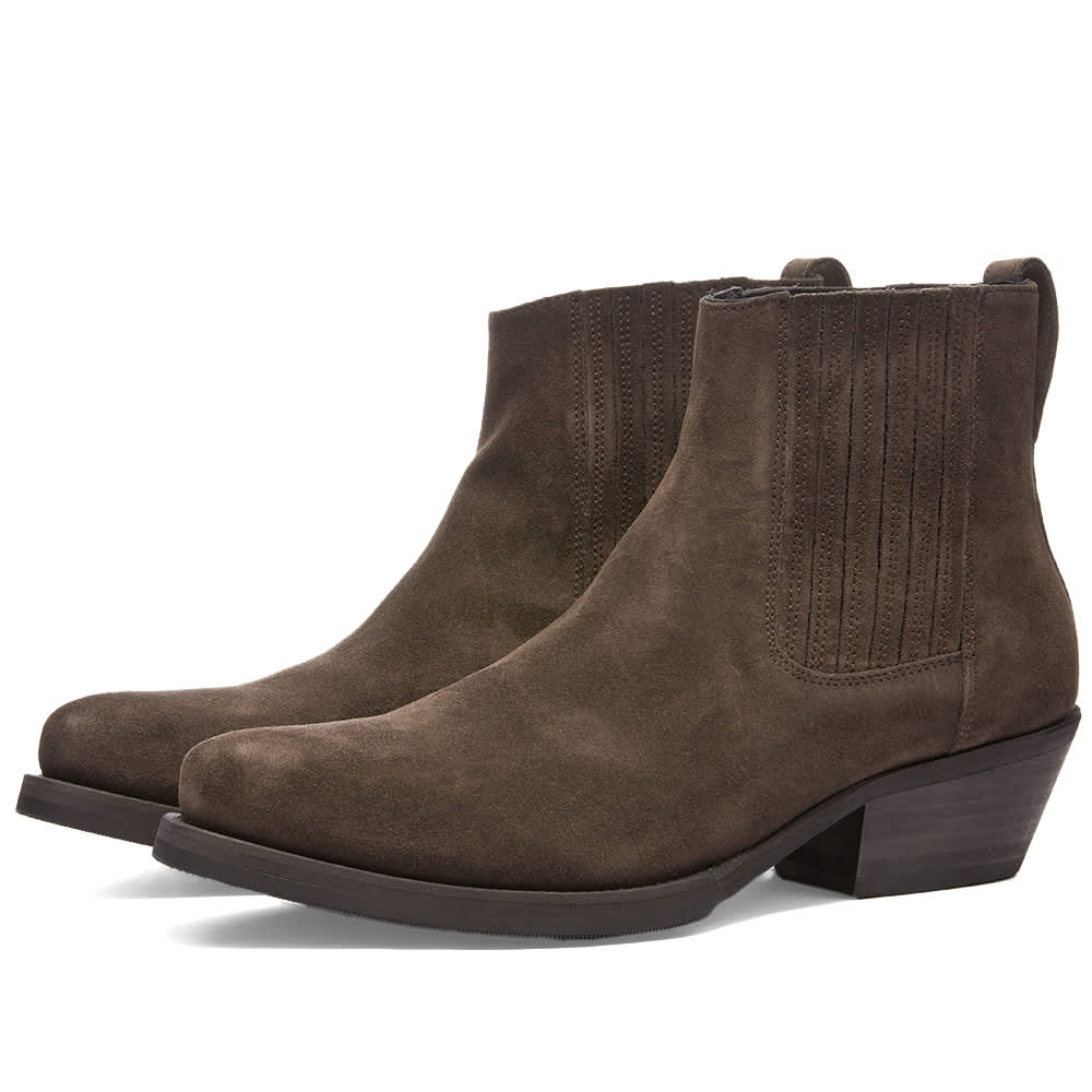 Our Legacy Suede Cuban Boot - Brown