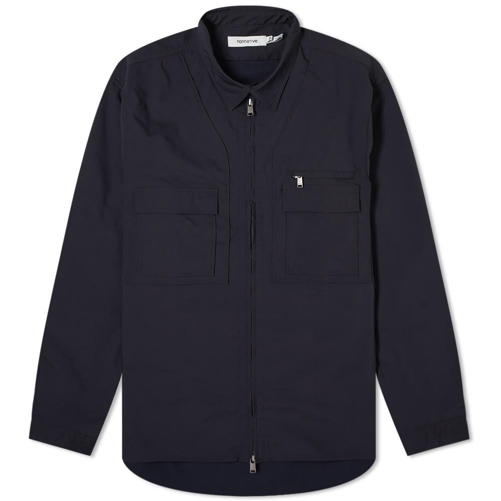 Nonnative Explorer Poly Twill Shirt Jacket - Navy