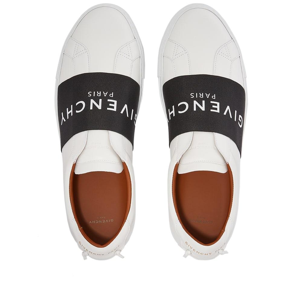 Givenchy Urban Street Low Elastic Logo Sneaker - White & Black