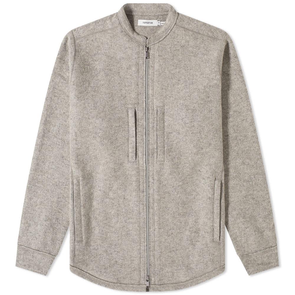 Nonnative Hiker Jersey Shirt Jacket - Heather Grey