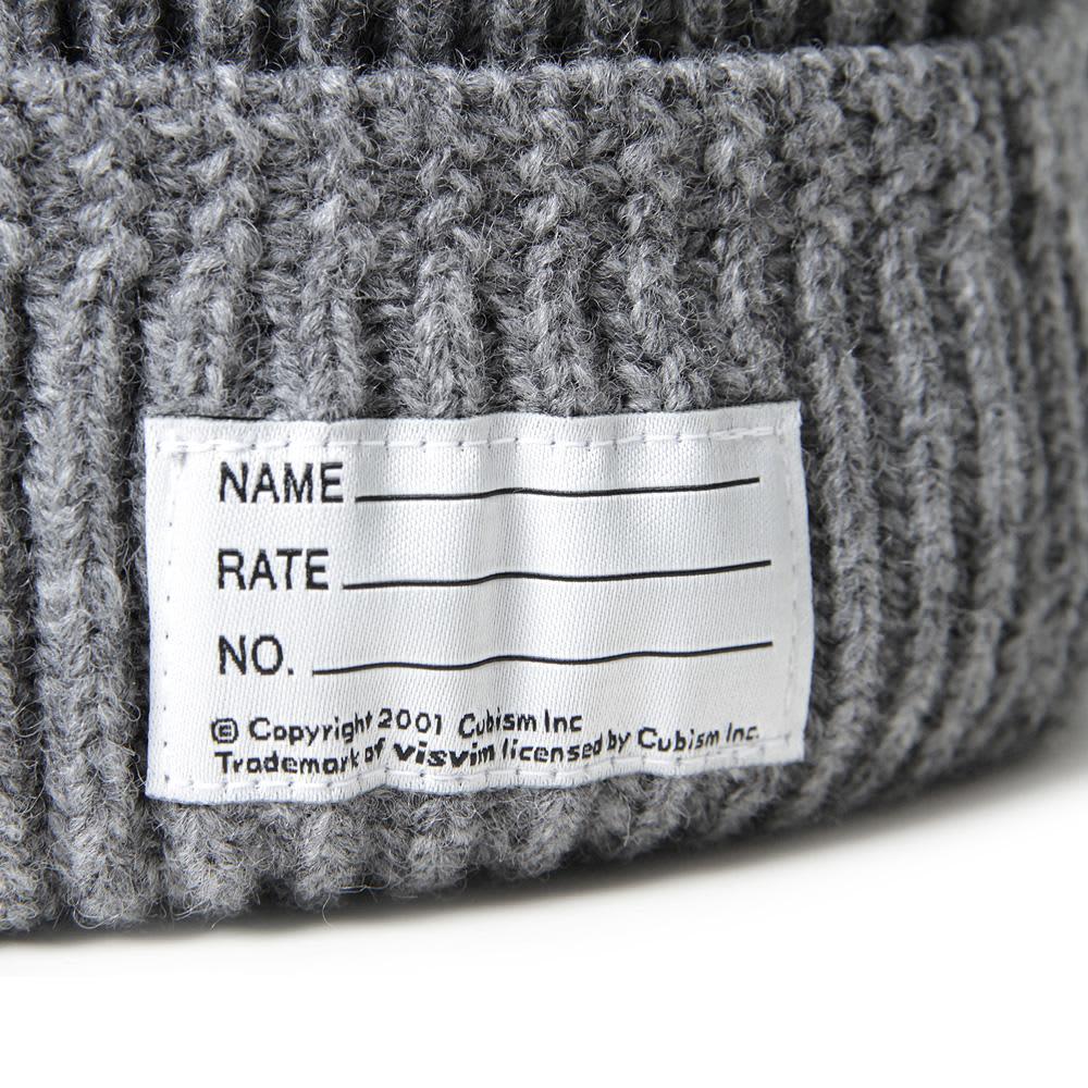 Visvim Knit Beanie - Grey