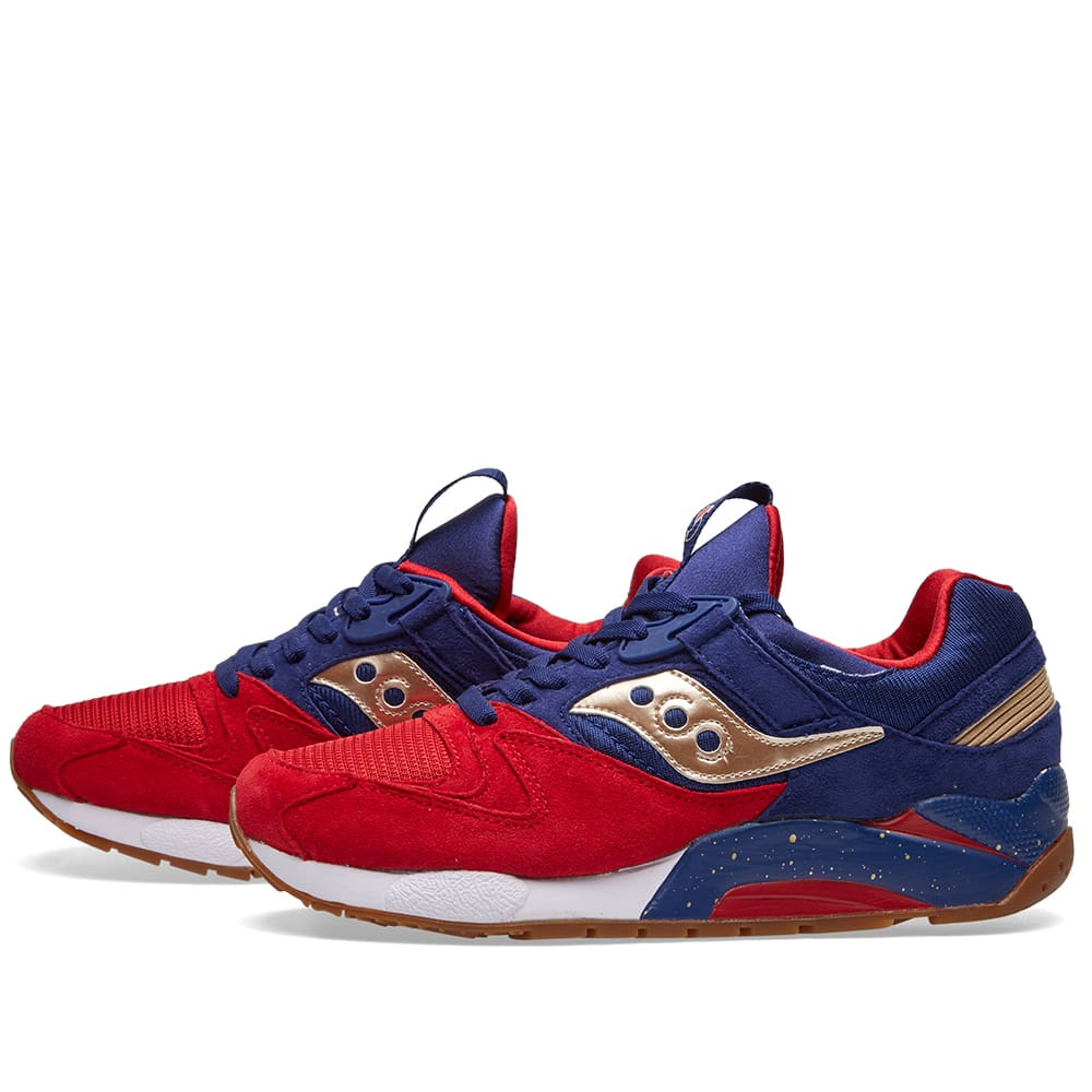Saucony Grid 9000 'Sparring' - Red, Blue & Gold