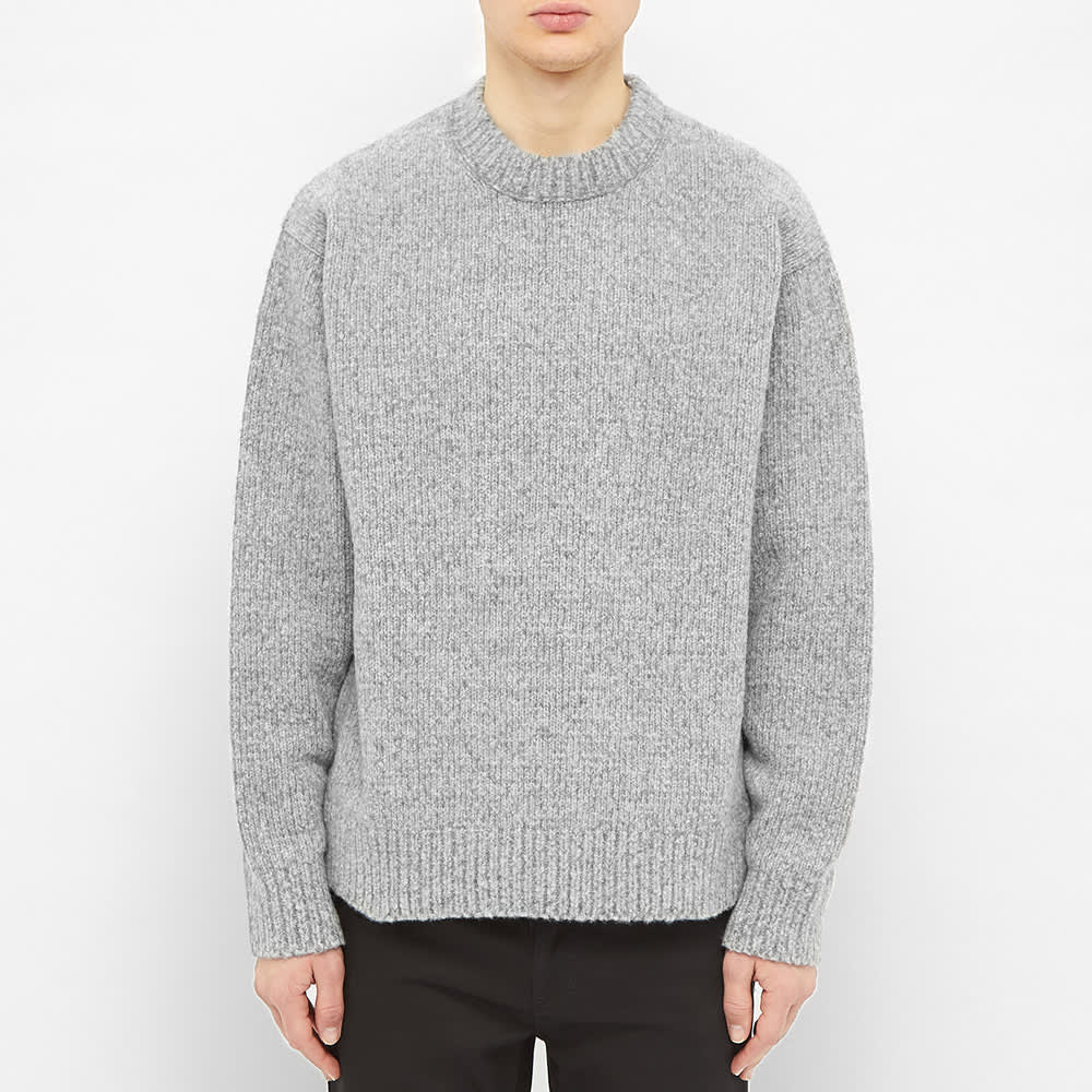 Acne Studios Kael Cashmix Knit - Medium Grey Melange