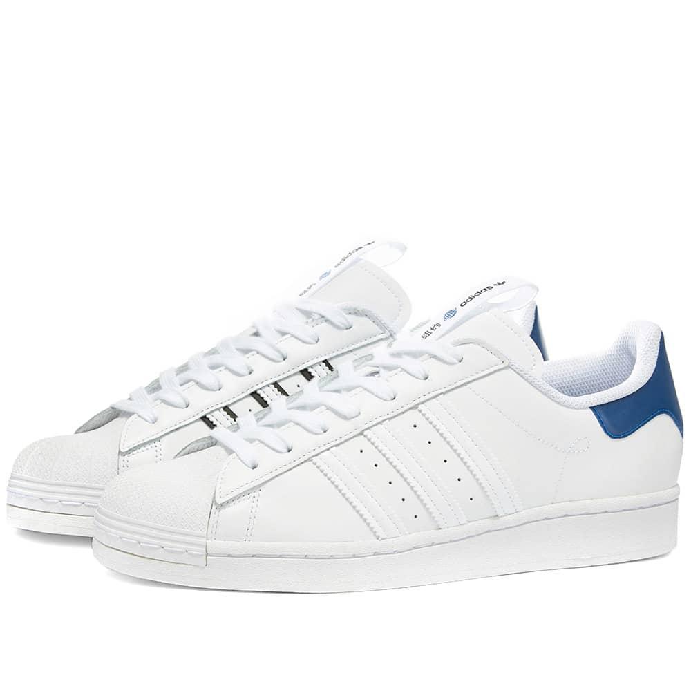 Adidas Superstar 'NYC' - Cloud White, Royal & Black