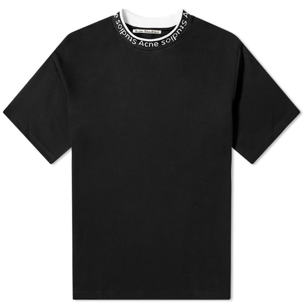 Acne Studios Extorr Logo Tee - Black
