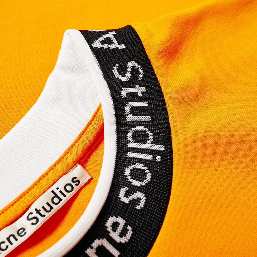 Acne Studios Extorr Logo Tee - Carrot Orange