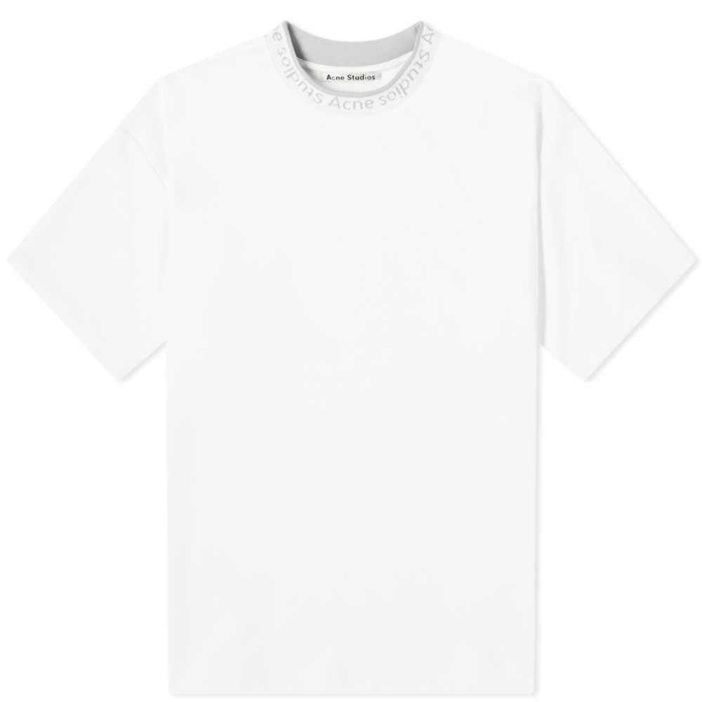Acne Studios Extorr Logo Tee - Optic White