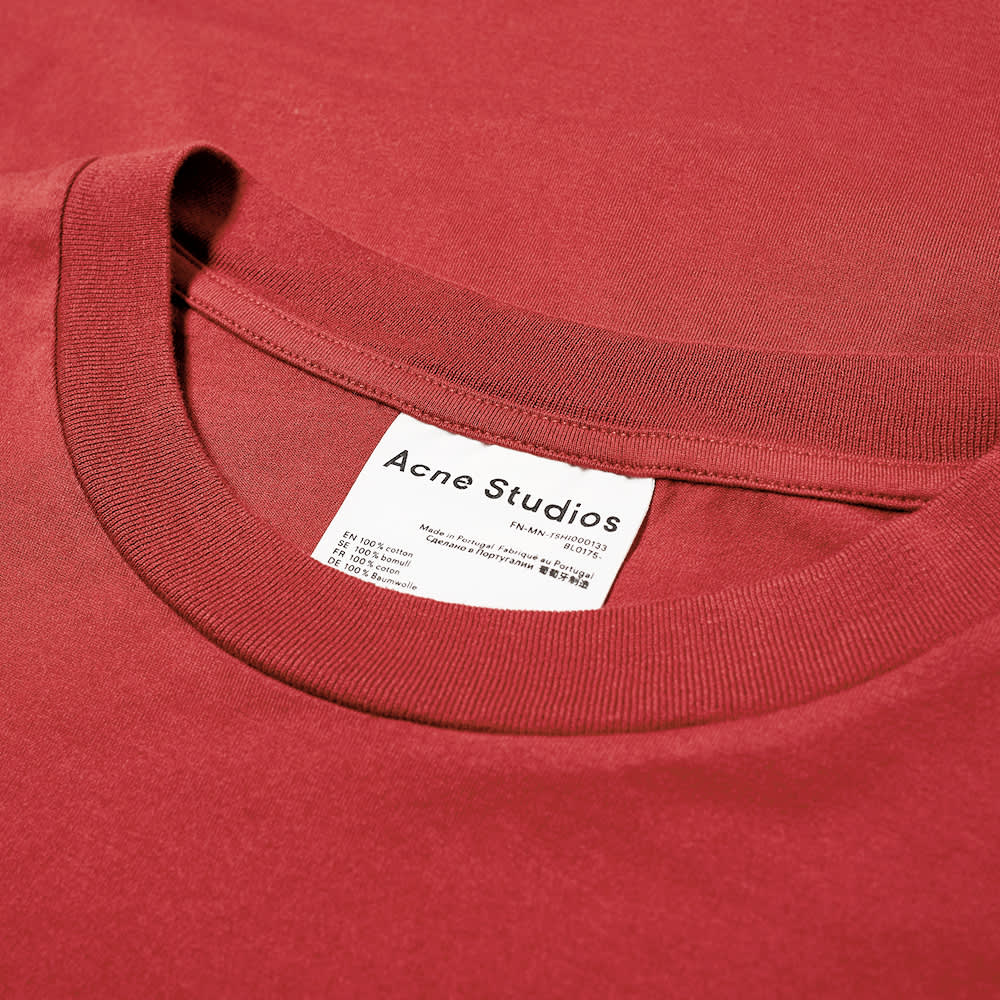 Acne Studios Extorr Pink Label Pocket Tee - Burgundy