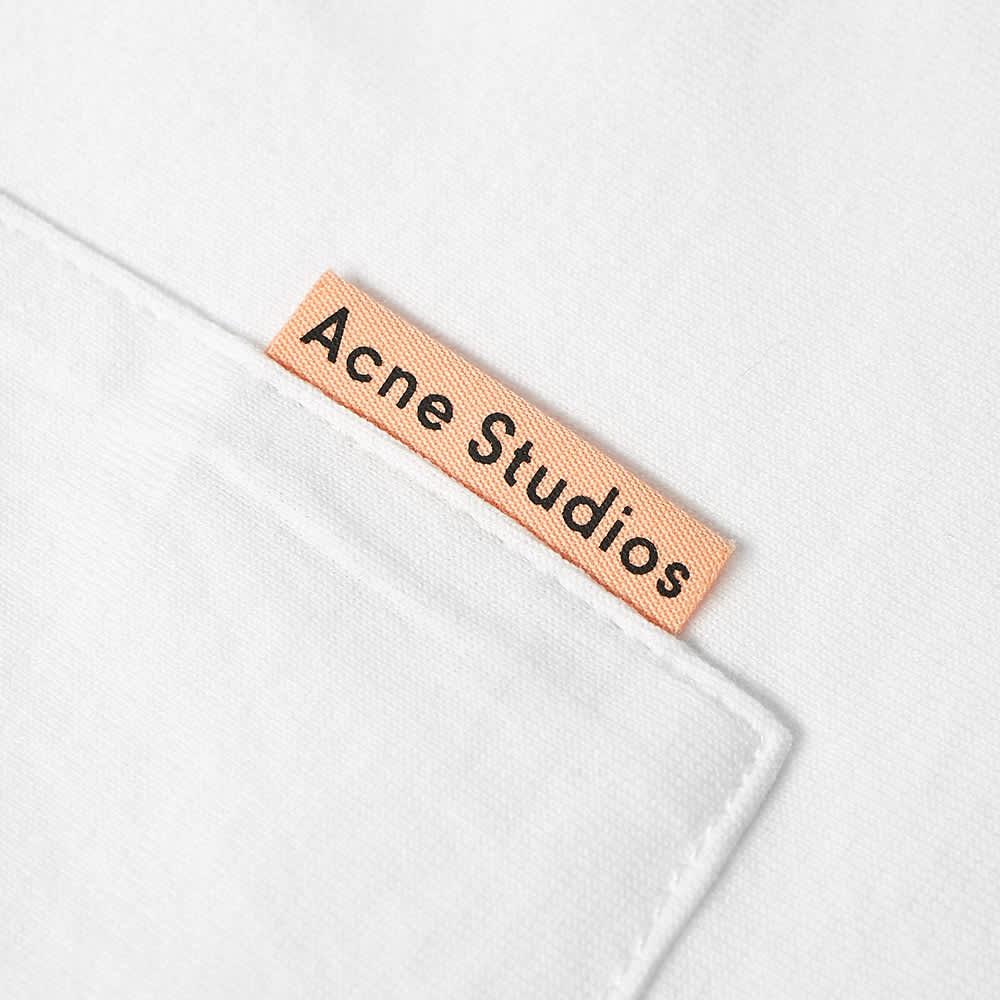 Acne Studios Extorr Pink Label Pocket Tee - White