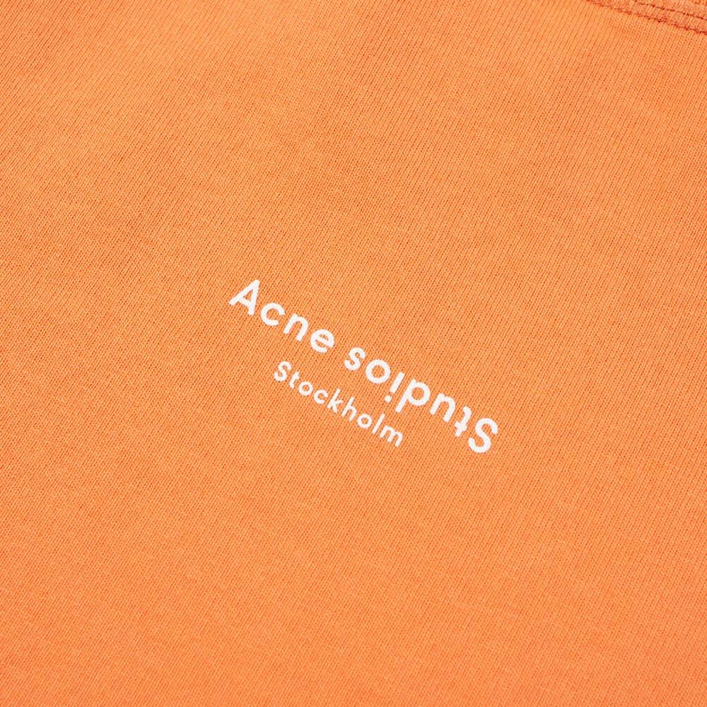 Acne Studios Extorr Stamp Logo Tee - Mandarin Orange