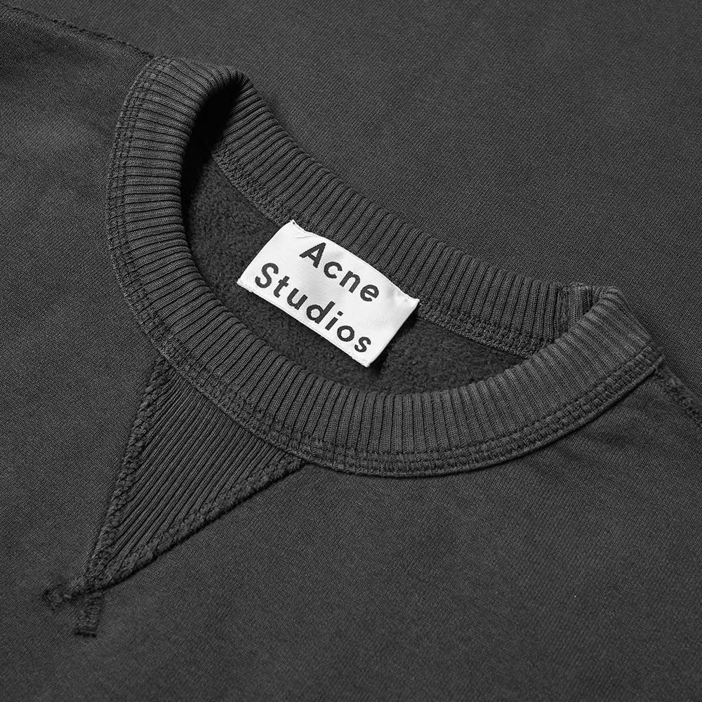 Acne Studios Fin Stamp Logo Crew Sweat - Black