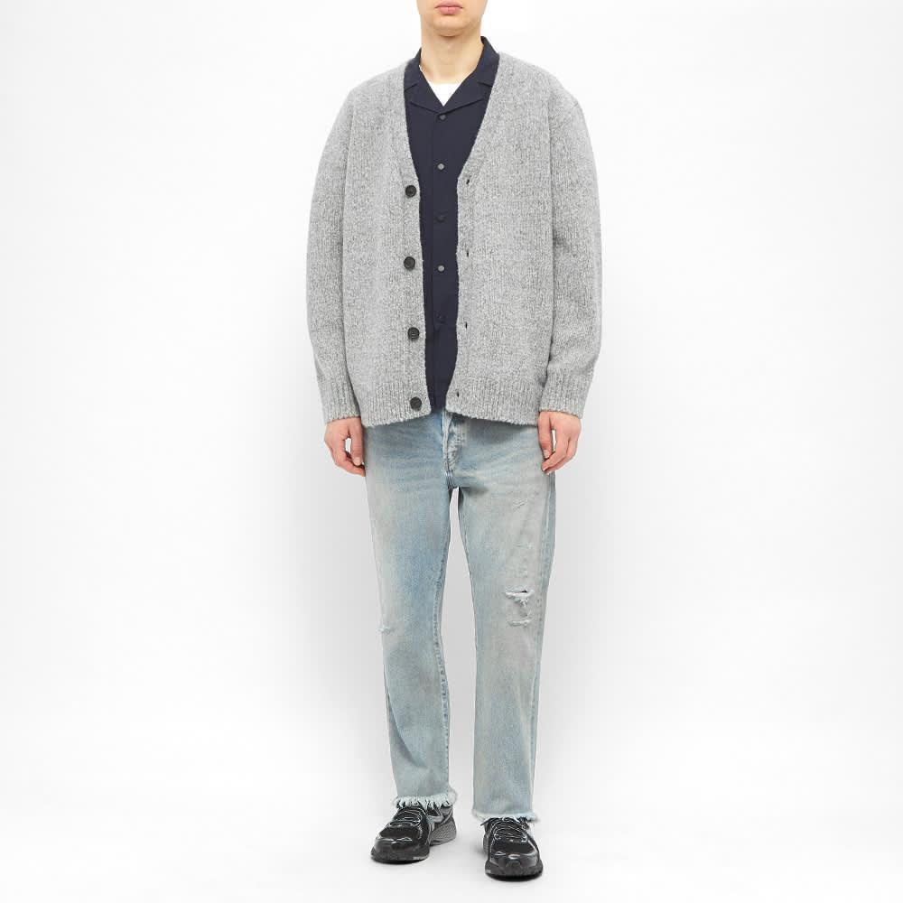 Acne Studios Kabelo Cashmix Knit Cardigan - Medium Grey Melange