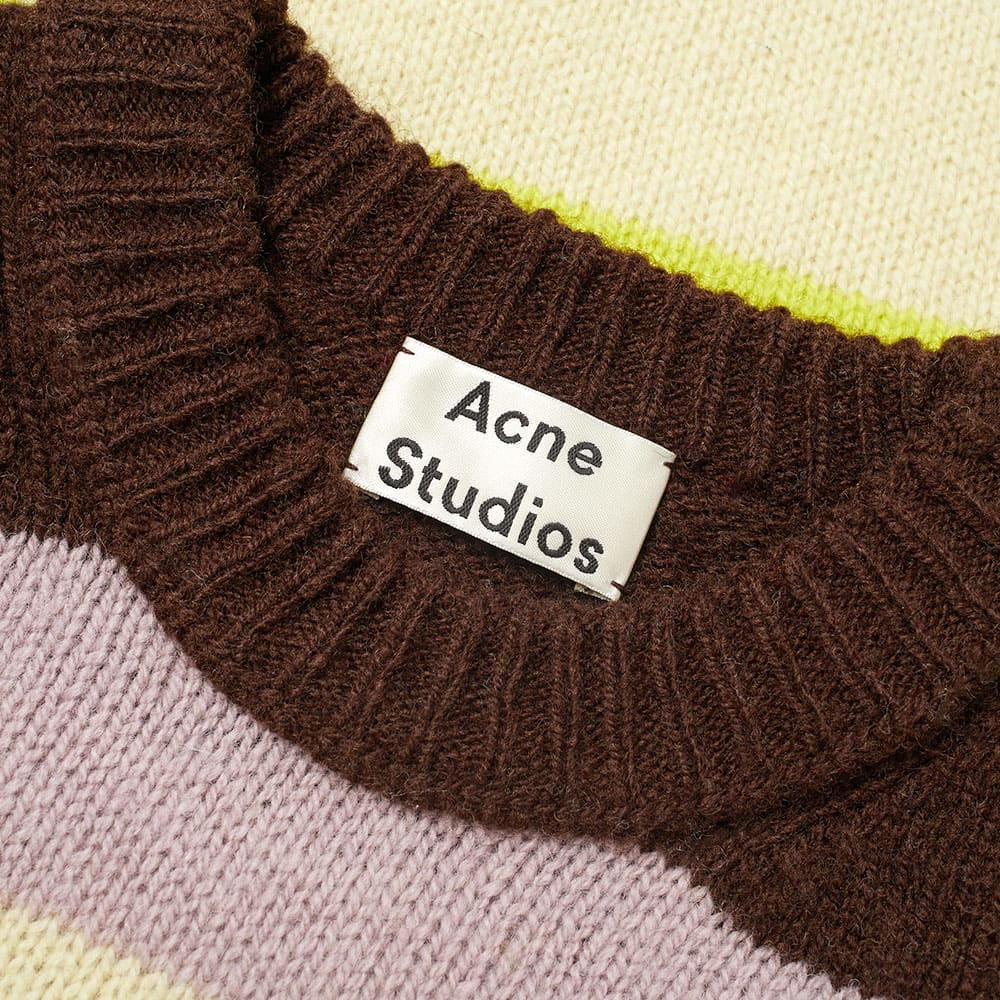 Acne Studios Kai Wool Crew Knit - Yellow Multi