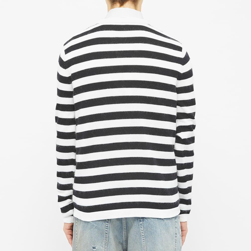 Acne Studios Kody Stripe Crew Knit - Navy & White