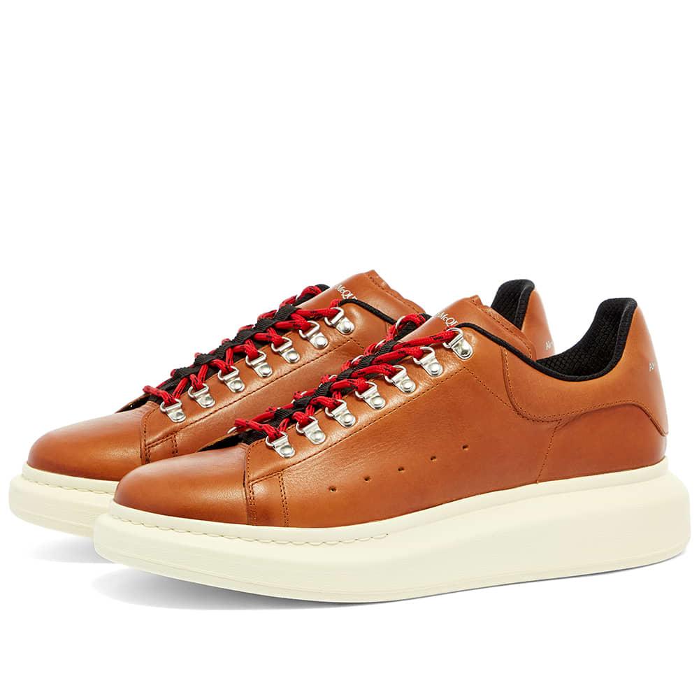 Alexander McQueen Hiker Wedge Sole Sneaker - Rust & Ivory