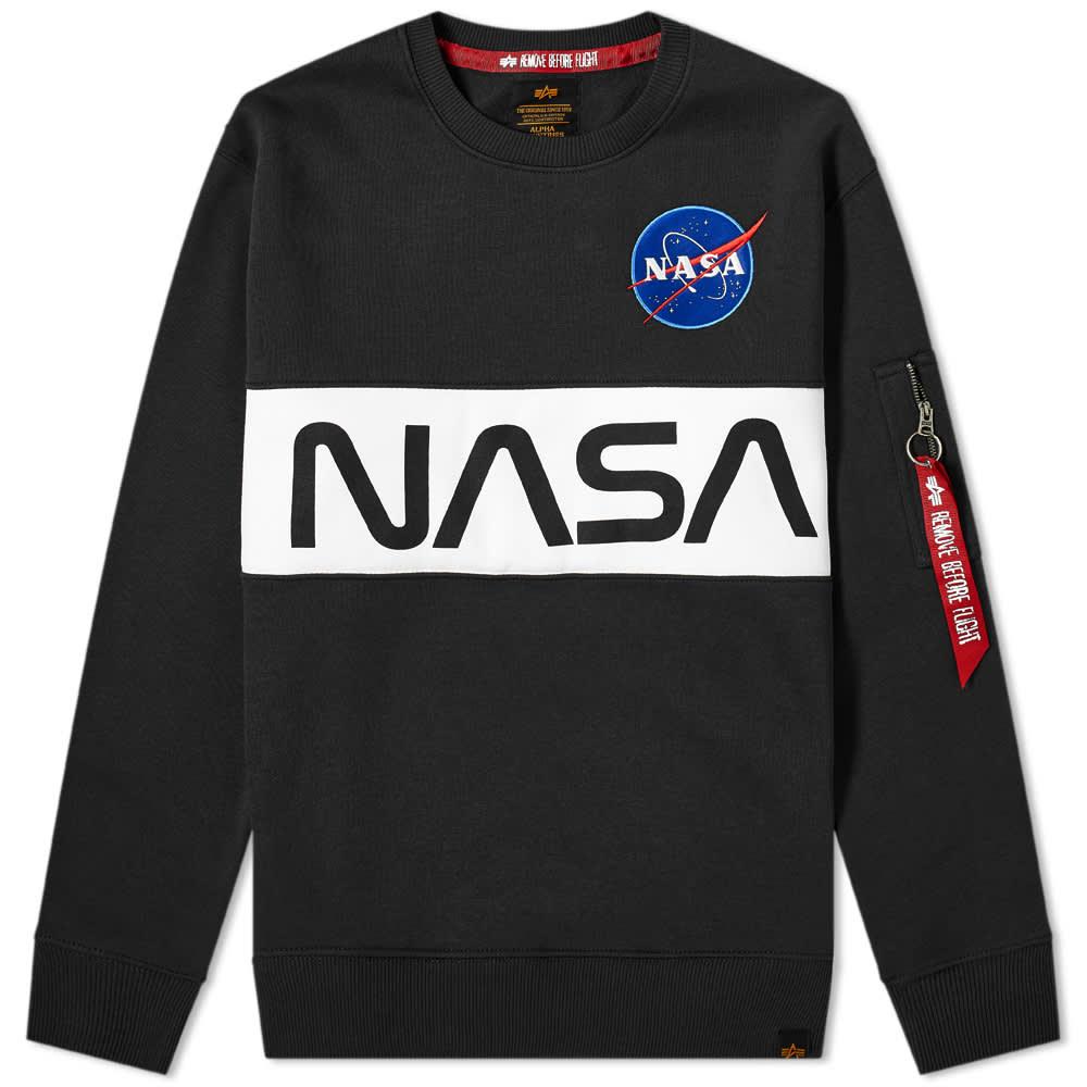 Alpha Industries NASA Inlay Crew Sweat - Black
