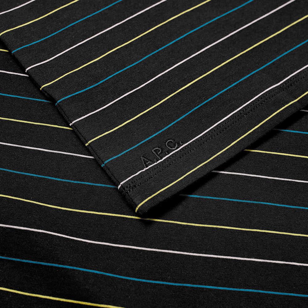 A.P.C. Milo Wide Stripe Tee - Black & Multi